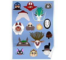 Many faces of Ghibli Poster
