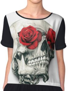 Rose Eye Skull Chiffon Top