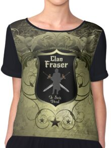 Clan Fraser shield with crossed swords Chiffon Top