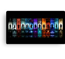 Doctor Who - The Twelve Doctors Canvas Print