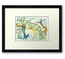 Rainforest Reptile Framed Print