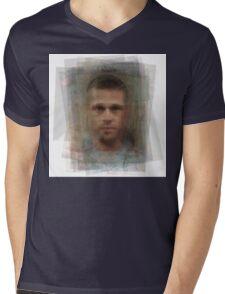 Tyler Durden Brad Pitt Fight Club  Mens V-Neck T-Shirt