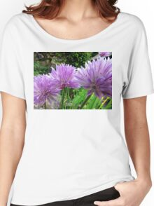 Chive Flowers Women's Relaxed Fit T-Shirt