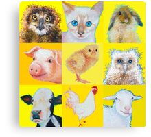 Animal Collage Canvas Print