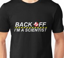 Ghostbusters - Back Off I'm A Scientist - White on Dark Unisex T-Shirt