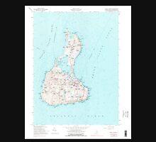 USGS TOPO Map Rhode Island RI Block Island 353245 1957 24000 Unisex T-Shirt