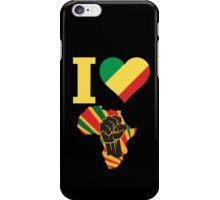 I Love Africa Map Black Power Congo Flag T-Shirt iPhone Case/Skin