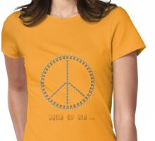 Peace Djembe Womens Fitted T-Shirt