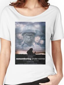 Saving Private Harambe  Women's Relaxed Fit T-Shirt