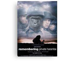 Saving Private Harambe  Canvas Print