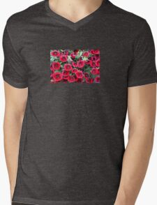 Red Flowers For You! Mens V-Neck T-Shirt