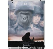 Saving Private Harambe  iPad Case/Skin