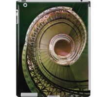 Spirals in brown and green iPad Case/Skin