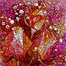 Rosebuds and Baby's Breath Abstracted by Dana Roper