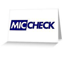 Mic Check Slogan - Royal Blue Greeting Card