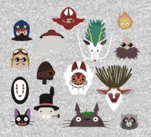 Many faces of Ghibli Kids Tee