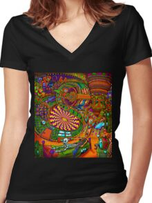 Carnival of the Abyss Women's Fitted V-Neck T-Shirt
