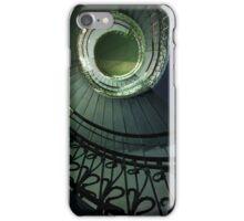 Spirals in blue and green iPhone Case/Skin