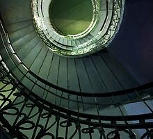 Spirals in blue and green by JBlaminsky