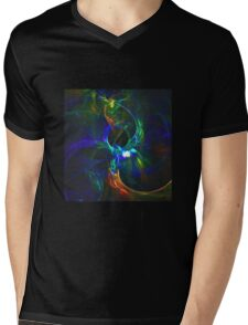 Abstract generated colorful shiny pattern graphic background Mens V-Neck T-Shirt