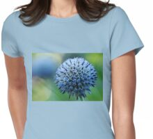 Steel Blue Giant Globe Thistle Womens Fitted T-Shirt