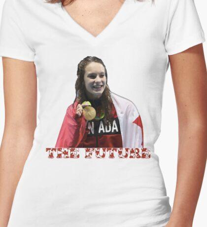 Penny Oleksiak Women's Fitted V-Neck T-Shirt