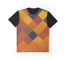 Abstraction #087 Orange Red Gold Blocks Diamonds Graphic T-Shirt