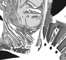 Freddy Krueger - This, is god - Black & White Sticker