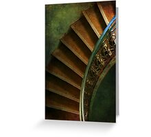 Spiral brown stairs Greeting Card