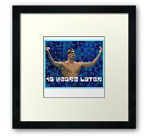 Michael Phelps Celebration 16 Years Olympian Framed Print