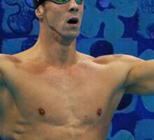 Michael Phelps Celebration 16 Years Olympian Sticker