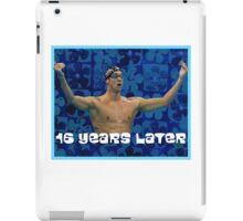 Michael Phelps Celebration 16 Years Olympian iPad Case/Skin