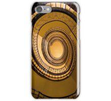 Spirals in orange iPhone Case/Skin