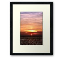 Gulf of Mexico Sunset Framed Print