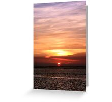 Gulf of Mexico Sunset Greeting Card
