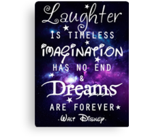 Walt Disney Canvas Print