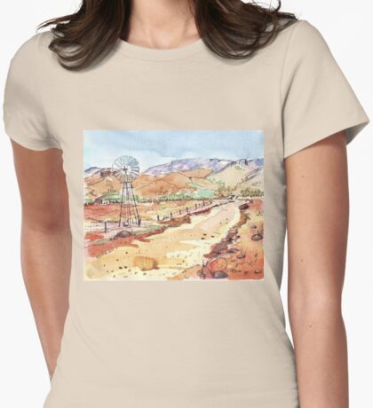 Windpomp in the Karoo Womens Fitted T-Shirt