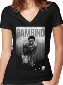gambino Women's Fitted V-Neck T-Shirt