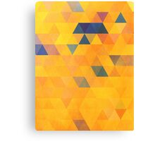 Abstraction #091 Yellow Purple Blue Triangles Canvas Print