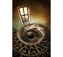Spiral stairs and the window Photographic Print