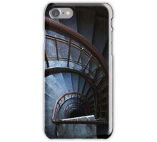 Spirals in blue iPhone Case/Skin