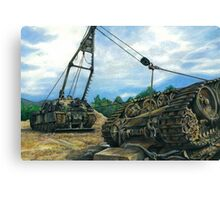 heavy armoured recovery Canvas Print
