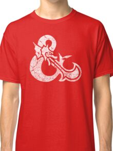 Dungeons&Dragons white ampersend Classic T-Shirt