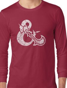 Dungeons&Dragons white ampersend Long Sleeve T-Shirt