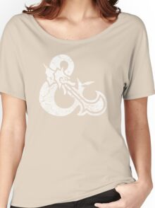 Dungeons&Dragons white ampersend Women's Relaxed Fit T-Shirt