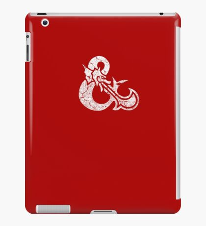 Dungeons&Dragons white ampersend iPad Case/Skin