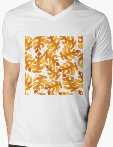 Hello autumn. Watercolor autumn leaves semless pattern Mens V-Neck T-Shirt