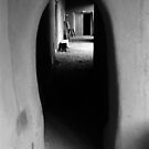 Adobe Passageway – black and white photograph by RocklawnArts