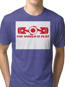 VW the world is flat Tri-blend T-Shirt