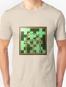 chess playing monster painted on a chess board T-Shirt